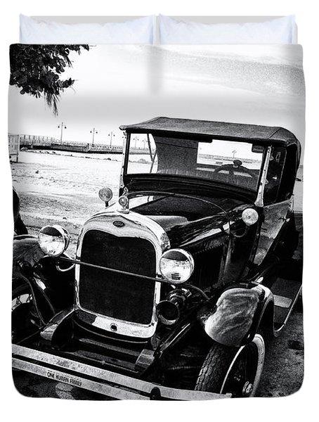 Ford Model T Film Noir Duvet Cover by Bill Cannon