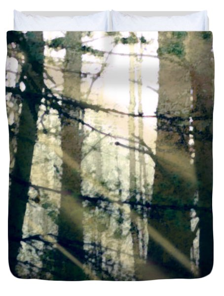 Forest Sunrise Duvet Cover by Paul Sachtleben