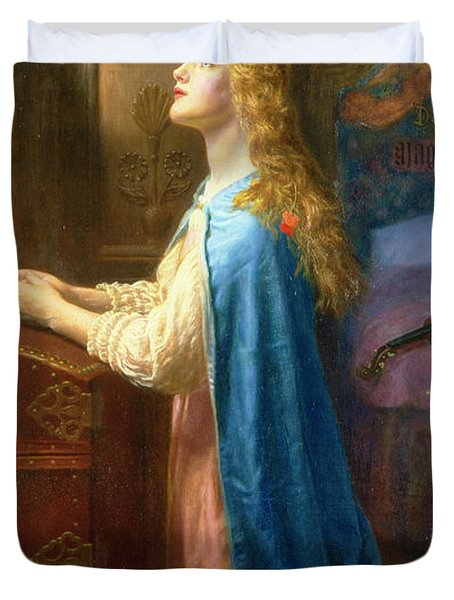 Forget me not painting by arthur hughes