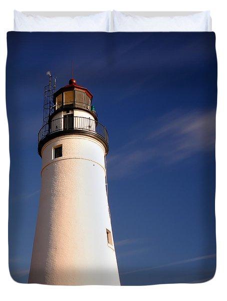 Fort Gratiot Lighthouse Duvet Cover by Gordon Dean II