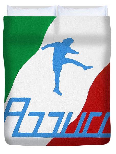 Forza Azzurri Duvet Cover by Oliver Johnston