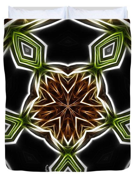 Fractal Kaleidoscope Duvet Cover by Cheryl Young