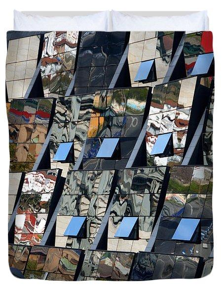 Fragmented Guggenheim Museum Bilbao Duvet Cover by RicardMN Photography