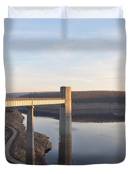 Francis E Walter Dam Duvet Cover by Bill Cannon