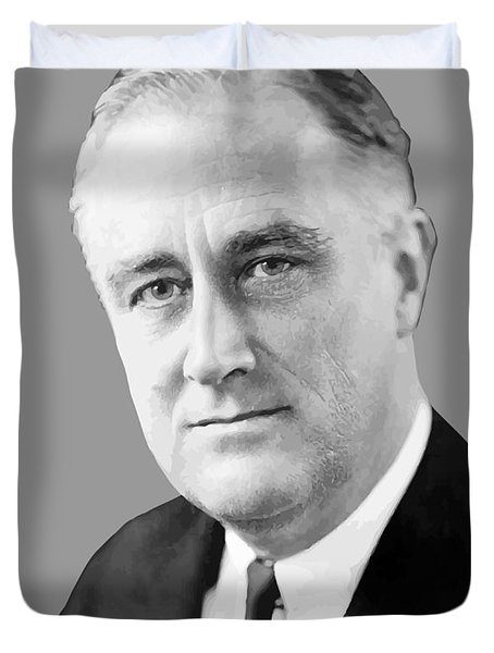 Franklin Delano Roosevelt Duvet Cover by War Is Hell Store