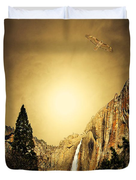Free To Soar The Boundless Sky Duvet Cover by Wingsdomain Art and Photography