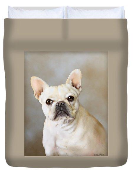 French Bulldog Luna Duvet Cover by Barbara Hymer
