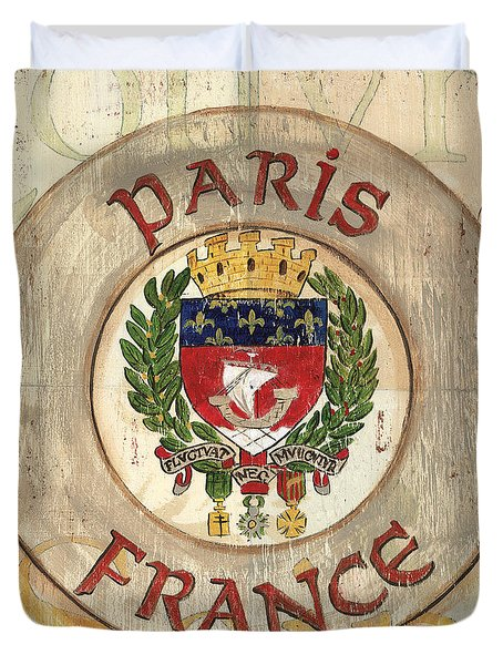 French Coat Of Arms Duvet Cover by Debbie DeWitt