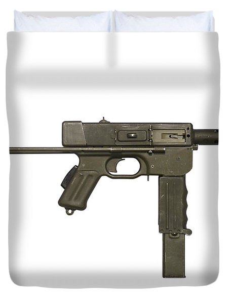 French Mat-49 Submachine Gun Duvet Cover by Andrew Chittock