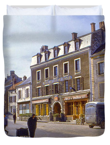 French Village Duvet Cover by Chuck Staley