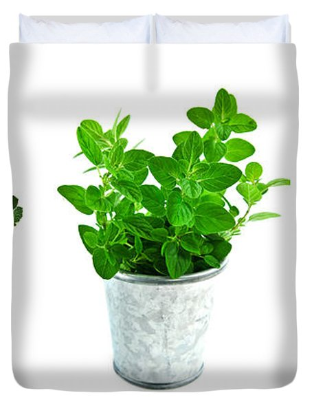 Fresh Herbs Duvet Cover by Elena Elisseeva