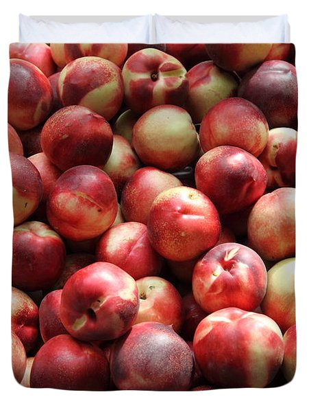 Fresh Nectarines - 5d17813 Duvet Cover by Wingsdomain Art and Photography