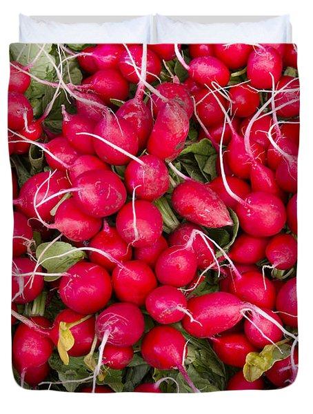 Fresh Red Radishes Duvet Cover by John Trax
