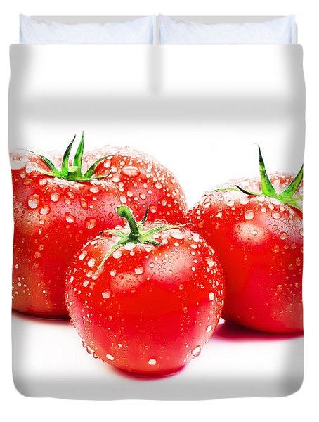 Fresh Tomato Duvet Cover by Setsiri Silapasuwanchai