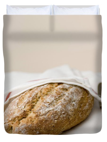 freshly baked whole grain bread Duvet Cover by Shahar Tamir