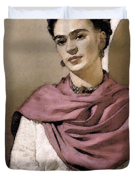 Frida Interpreted 2 Duvet Cover by Lenore Senior