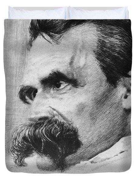 Friedrich Wilhelm Nietzsche, German Duvet Cover by Photo Researchers