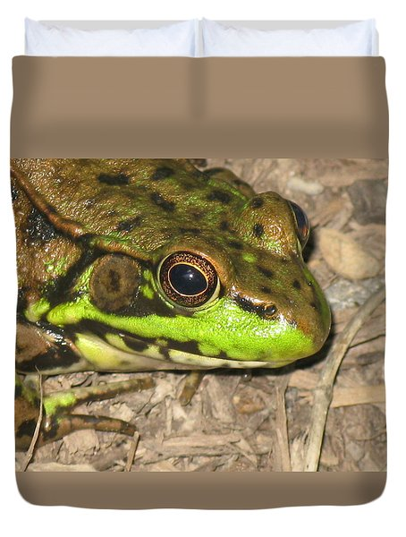 Frog Duvet Cover by Debbie Finley