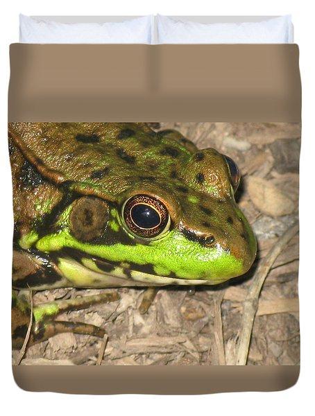 Frog Duvet Cover by Debbie Finley
