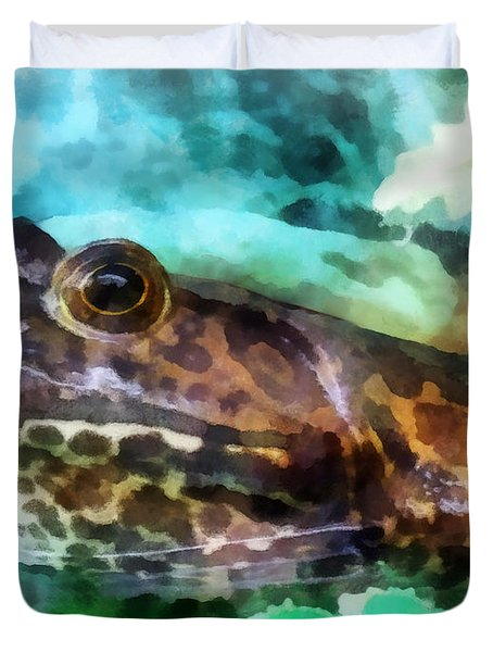 Frog Ready To Be Kissed Duvet Cover by Susan Savad