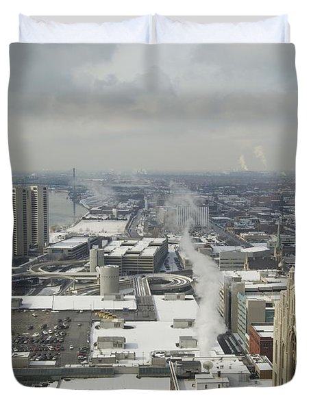 From Atop The Guardian 1758 Duvet Cover by Michael Peychich