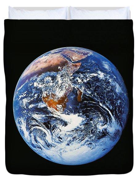 Full Earth From Space Duvet Cover by Stocktrek Images