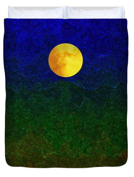 Full Moon Duvet Cover by Dale   Ford