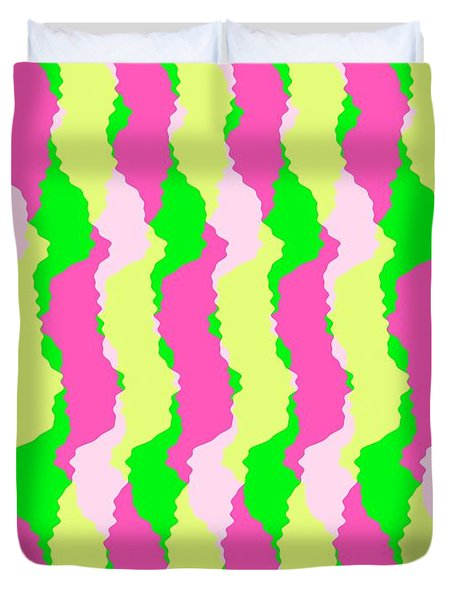 Funky Stripes Duvet Cover by Louisa Knight