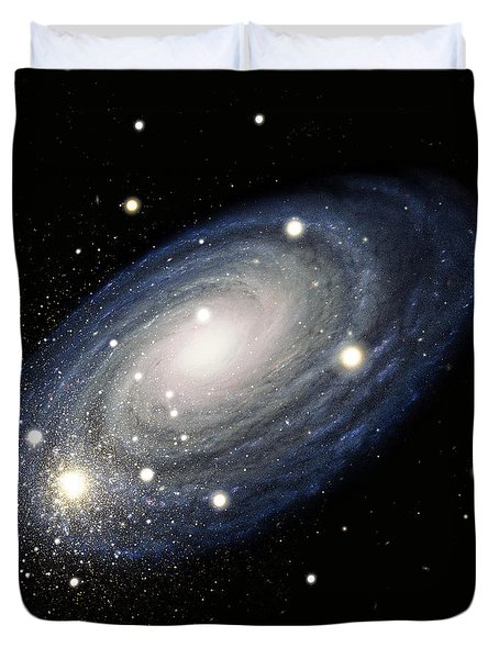 Galaxy Duvet Cover by Atlas Photo Bank and Photo Researchers