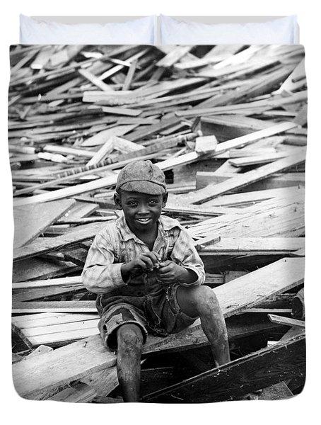 Galveston Flood Survivor - September - 1900 Duvet Cover by International  Images