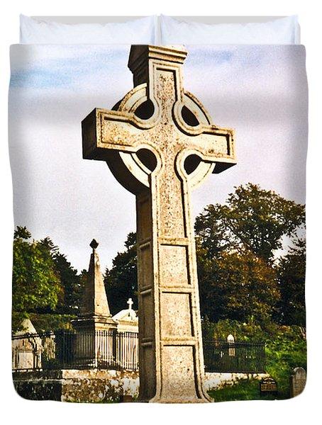 Galway Monastic Ruins 1 Duvet Cover by Douglas Barnett
