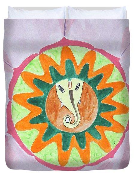 Ganesh Mandala Duvet Cover by Sonali Gangane