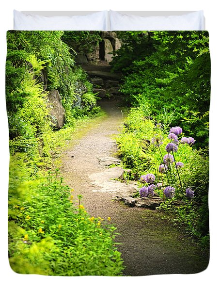 Garden Path Duvet Cover by Elena Elisseeva