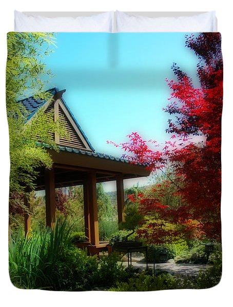 Garden Retreat Duvet Cover by Lynn Bauer