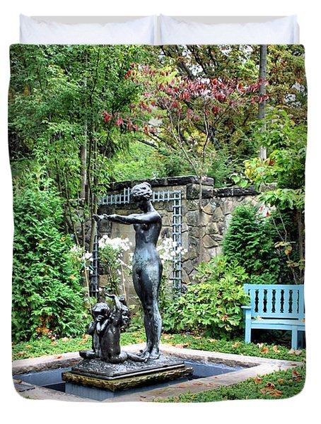 Garden Statuary Duvet Cover by Kristin Elmquist