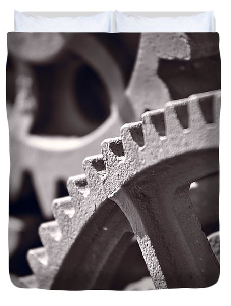 Gears Number 3 Duvet Cover by Steve Gadomski