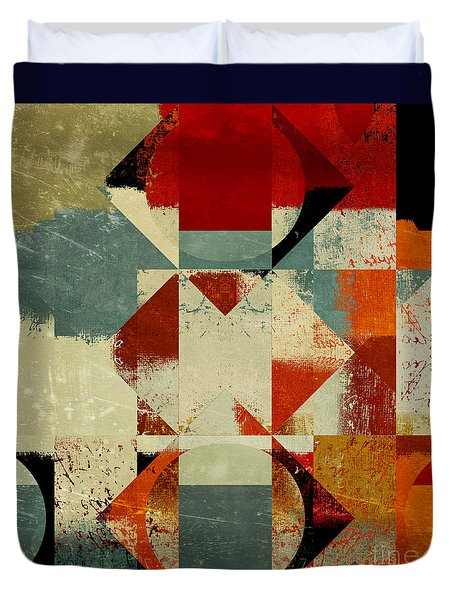 Geomix 04 - 39c3at227a Duvet Cover by Variance Collections