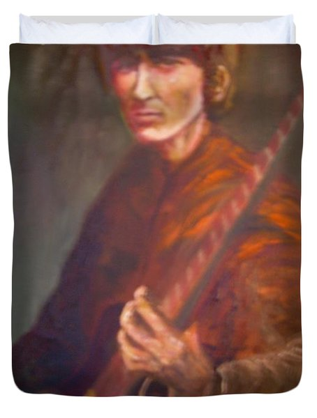 George Harrison Duvet Cover by Leland Castro