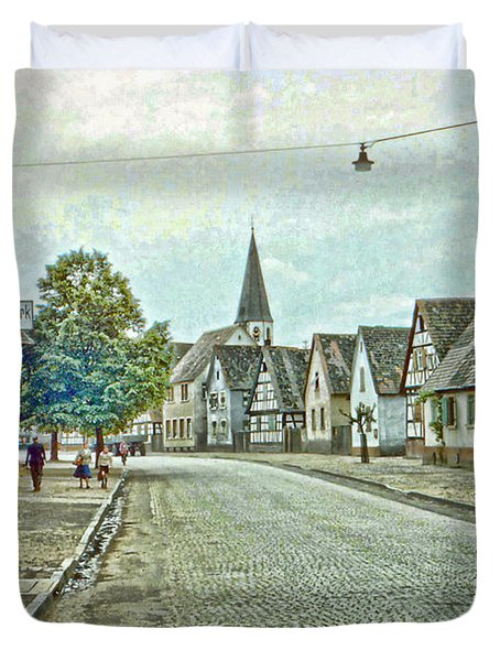 German Village Duvet Cover by Chuck Staley