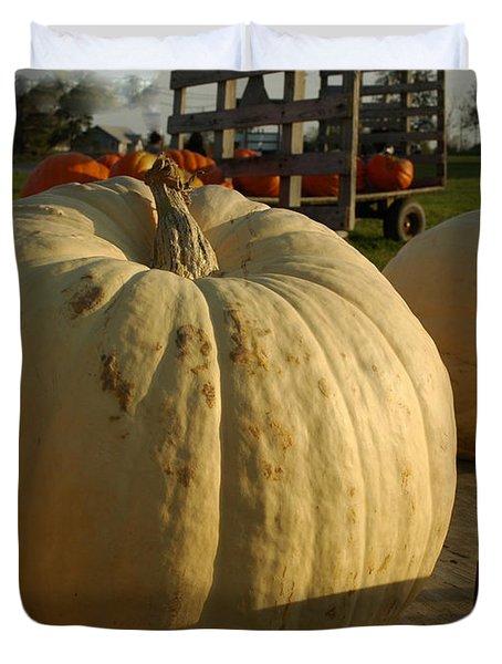 Ghost Pumpkin Duvet Cover by LeeAnn McLaneGoetz McLaneGoetzStudioLLCcom