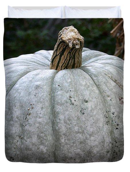 Ghost Pumpkin Duvet Cover by Susan Herber