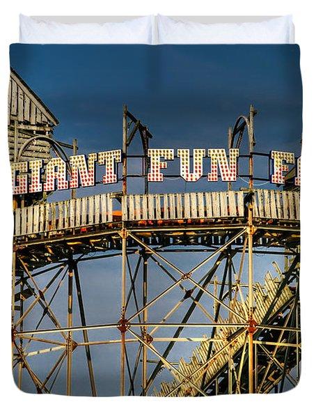 Giant Fun Fair Duvet Cover by Adrian Evans