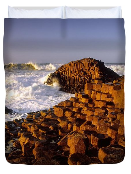 Giants Causeway, County Antrim, Ireland Duvet Cover by The Irish Image Collection