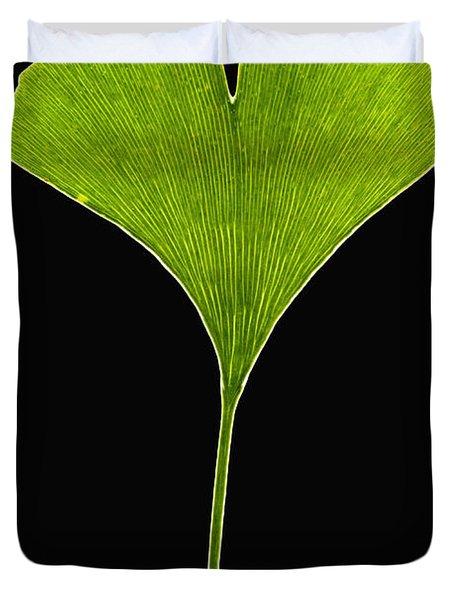 Ginkgo Leaf Duvet Cover by Piotr Naskrecki