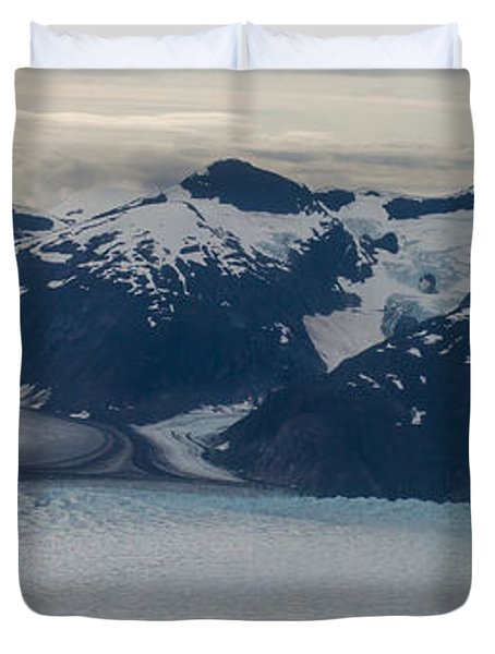 Glacial Panorama Duvet Cover by Mike Reid
