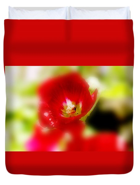 Gladiolus Duvet Cover by Toni Hopper