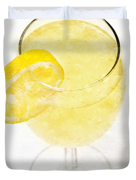 Glass of Lemonade Duvet Cover by Andee Design