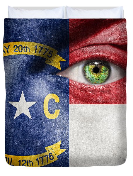 Go North Carolina Duvet Cover by Semmick Photo