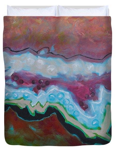Go With The Flow 2 Duvet Cover by Linda Krukar