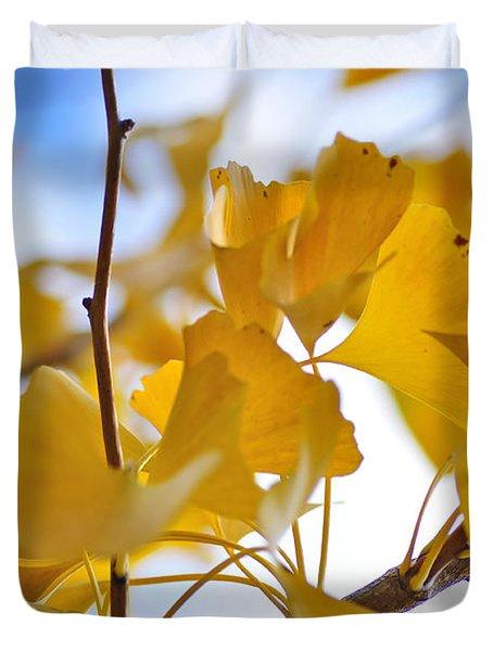 Golden Autumn Duvet Cover by Kaye Menner